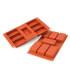 Molde jabón de silicona 7 rectángulos