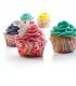 Cápsulas para cupcakes y bombas de baño (100 uds) - Corazones y flores