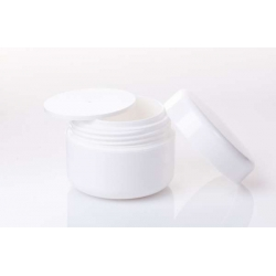 Tarro blanco con tapa interior 30ml