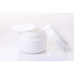 Tarro blanco con tapa interior 30 ml