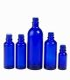 Botella vidrio azul 50 ml (DIN18)