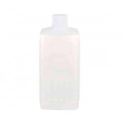 Botella rectangular HDPE con tapón blanco 250ml