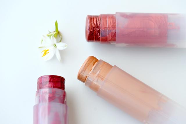 Receta Barra de labios en diferentes colores