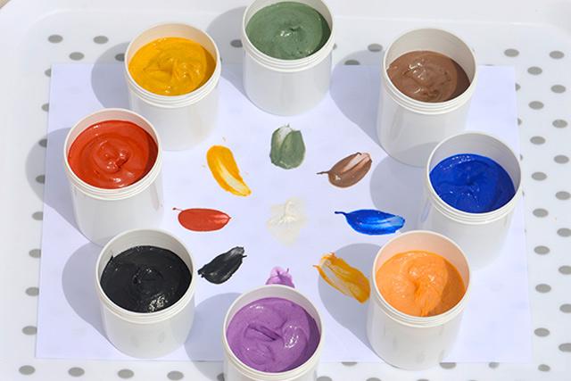 Receta Pintura de dedos natural y casera para niños
