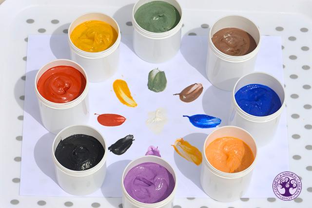 Receta pintura de dedos para niños