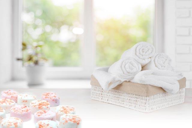 Pastillas de baño efervescentes