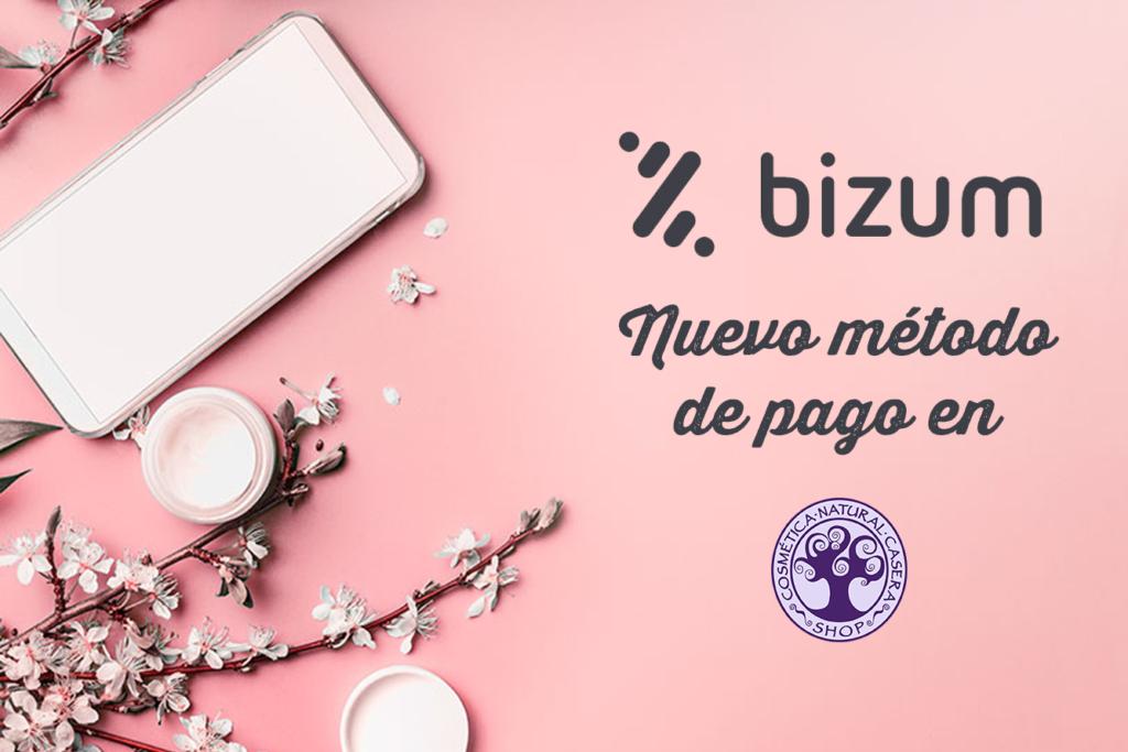 Bizum, nuevo método de pago en Cosmética Natural Casera Shop