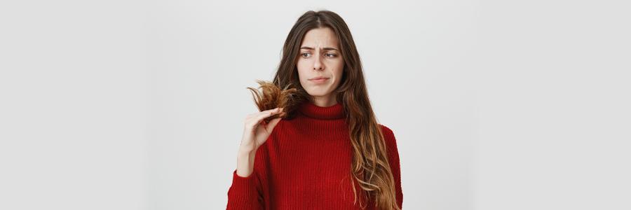 causas del cabello seco