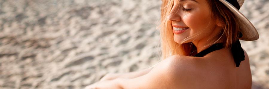 exceso de sol en la piel