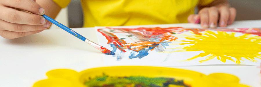Pintura de dedos natural y casera para niñ@s