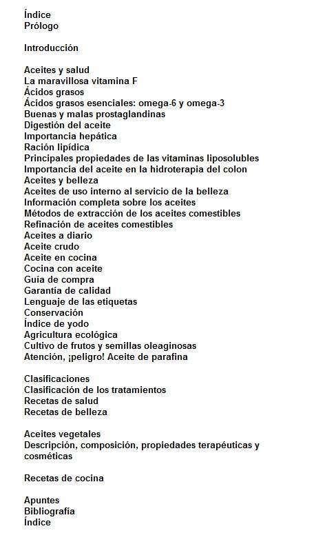 Index Libro Aceites Vegetales